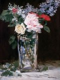 Vase of Flowers: Roses and Lilacs