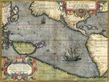 Map of the Pacific Ocean, 1589
