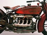 Detail of 4 cylinder Indian Ace, 1929