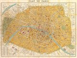 Gilded Map of Paris